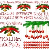 Link toVector christmas alphanumeric