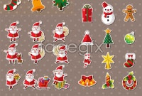 Link toVector christmas cartoon character stickers
