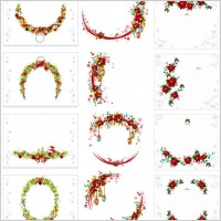 Link toVector christmas wreath collection