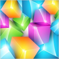 Link toVector colorful cube background