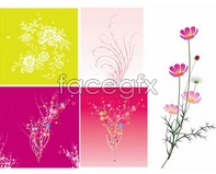 Link topattern flower colorful Vector