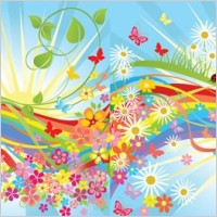 Link toVector colorful flowers in the world