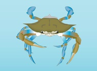 Vector crab free