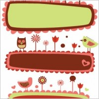 Link toVector cute bird and flower banners