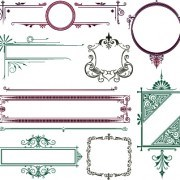 Link toVector decoration frame and borders illustration 01