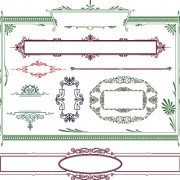 Link toVector decoration frame and borders illustration 02