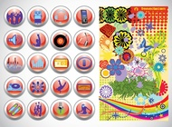 Link toVector design buttons graphics free