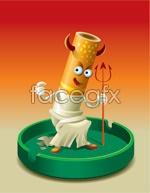 Link toVector devil cigarette