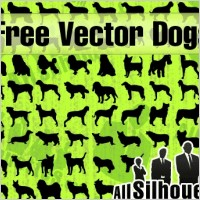 Link toVector dogs silhouettes