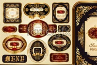 Link toVector exquisite wine labels ii