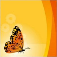 Link toVector floral background with butterfly