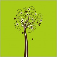 Link toVector floral tree