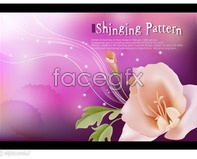 Link toVector flower flower purple background
