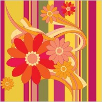 Link toVector flower with color background