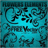 Link toVector flowers elements