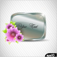 Link toVector flowers frame and texture