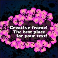 Link toVector flowers frame