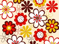 Link toVector flowers pattern free