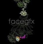 Link toVector flowers pattern