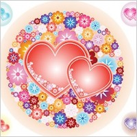 Link toVector flowery hearts