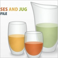 Link toVector glasses and jug psd file