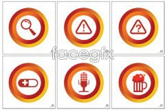 Link toicon glass magnifying a and beer graphic Vector