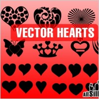 Link toVector hearts shapes