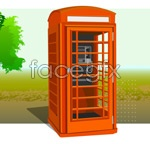 Link toVector ic telephone booth