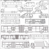 Link toVector line drawing all kinds of automotive bus