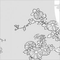 Link toVector line drawing of flowers-31(chrysanthemum)