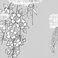 Link toVector line drawing of flowers-38(cherry blossoms, clouds, gilded lattice)