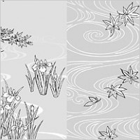 Link toVector line drawing of flowers-40( water, iris)