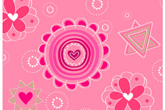 Link toVector love flowers decorate the background