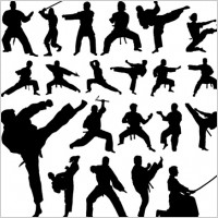 Link toVector martial arts silhouettes