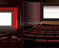 Vector movie curtain of the cinema seat