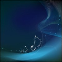 Link toVector musical notes on wave background