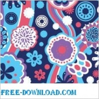 Link toVector pattern  floral theme