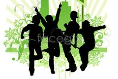 Link toVector people silhouette of rock