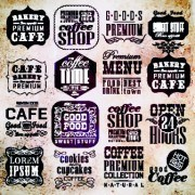 Link toVector retro coffee labels set 02