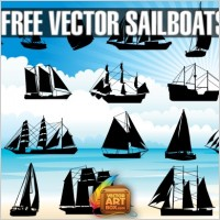 Link toVector sailboats silhouettes