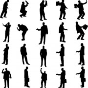 Link toVector set of businessman silhouettes graphics 02 free