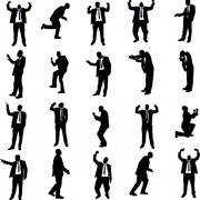 Link toVector set of businessman silhouettes graphics 04 free