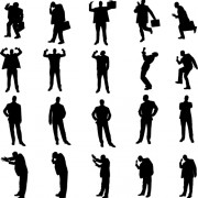 Link toVector set of businessman silhouettes graphics 05 free