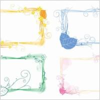 Link toVector set of floral frames