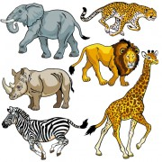 Link toVector set of wild animals design graphic 05 free