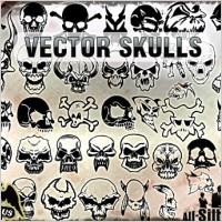 Link toVector skulls clipart