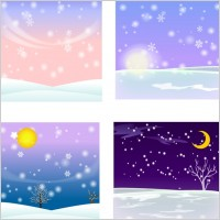 Link toVector snow background