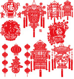 Link toVector spring festival lantern paper cuts