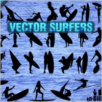 Link toVector surfers clipart