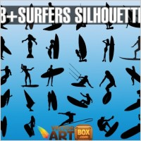 Link toVector surfers silhouettes
